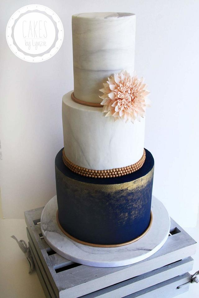 Marble effect Wedding Cake