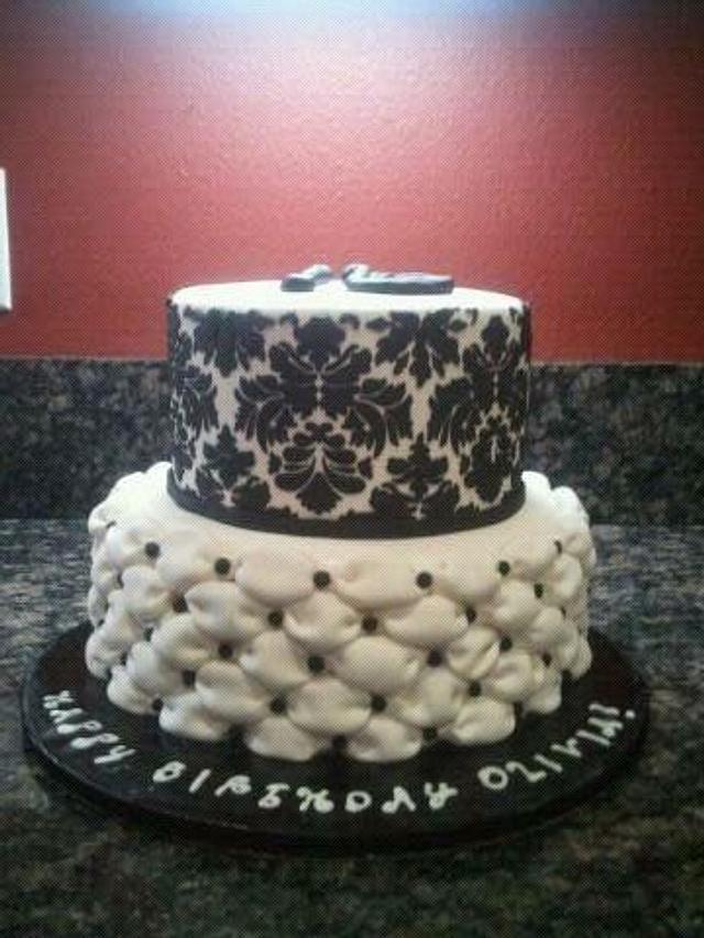 ~Damask and Billowed Cake~