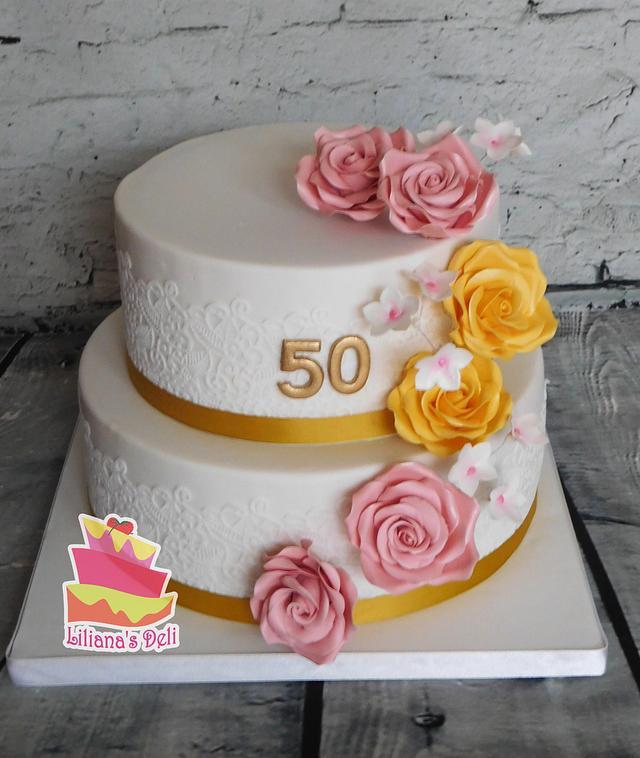 50th aniversary cake