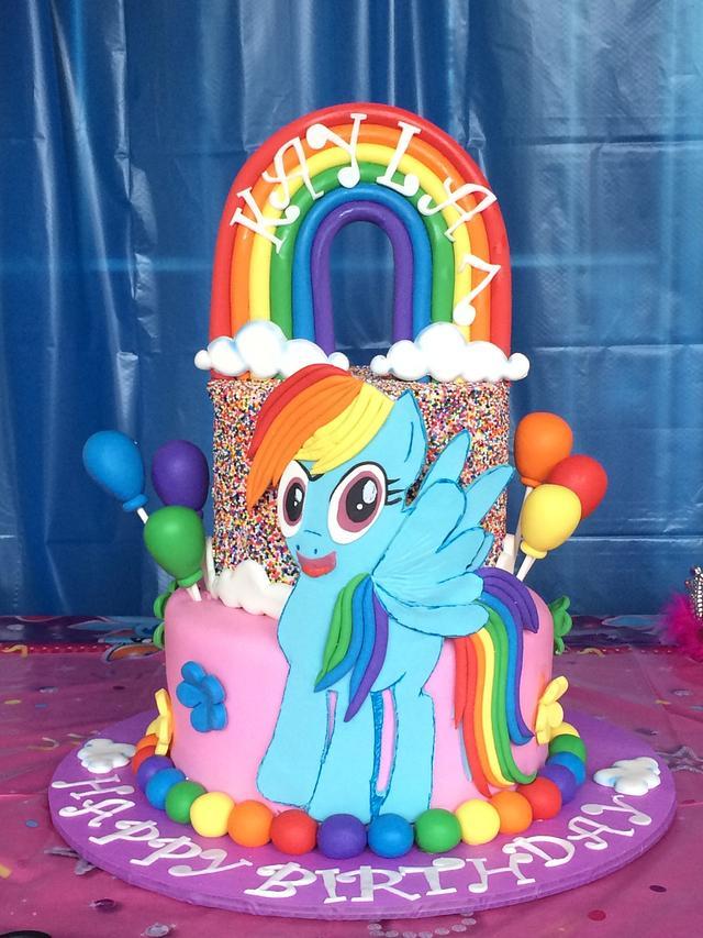 Superb Little Pony Rainbow Dash Birthday Cake Cake By Caroline Cakesdecor Funny Birthday Cards Online Elaedamsfinfo