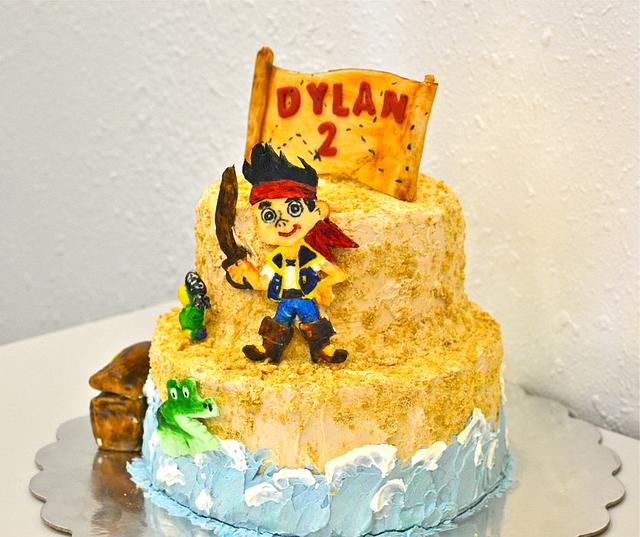 Jake and the Nvrland Pirates Cake