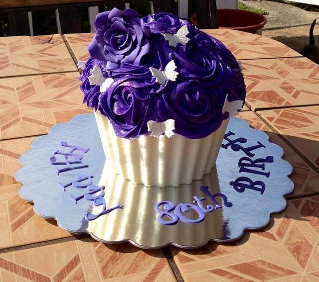 Purple Giant Cupcake