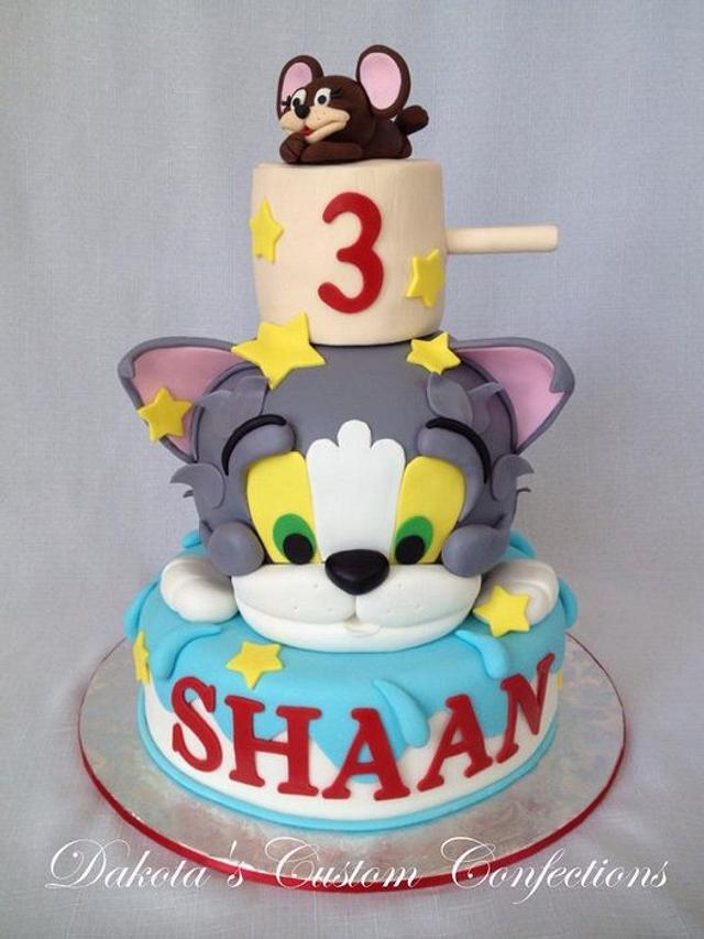 Incredible Tom And Jerry Birthday Cake Cake By Dakotas Custom Cakesdecor Funny Birthday Cards Online Alyptdamsfinfo