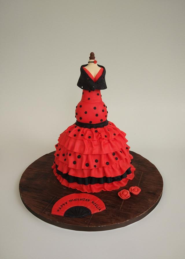 3D flamenco doll