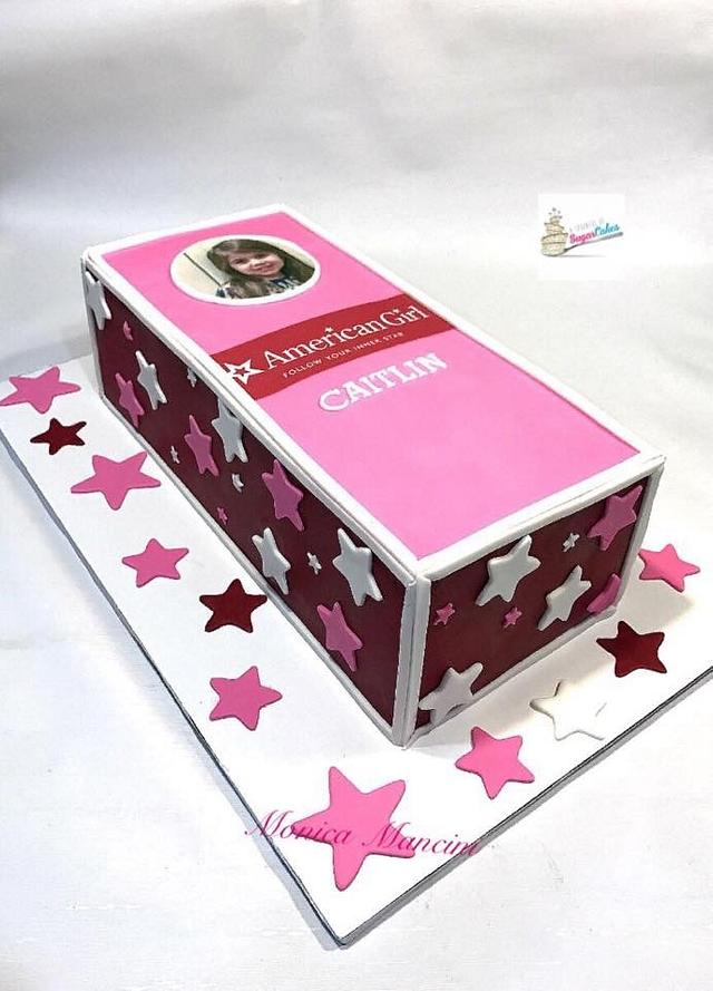 American girl Box cake