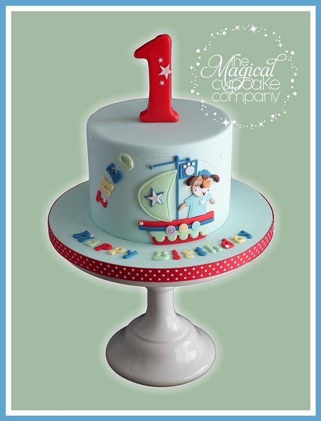 Marvelous Sailor Puppy Birthday Cake Cake By Sam Cakesdecor Funny Birthday Cards Online Necthendildamsfinfo