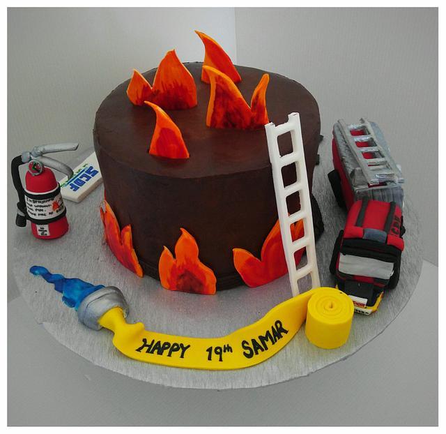 Firefighters cake SCDF