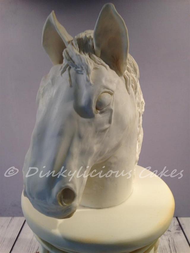 Horse Statue Cake