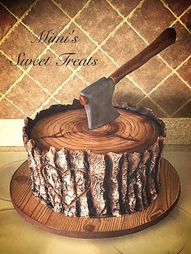 Lumberjack Groom's Cake