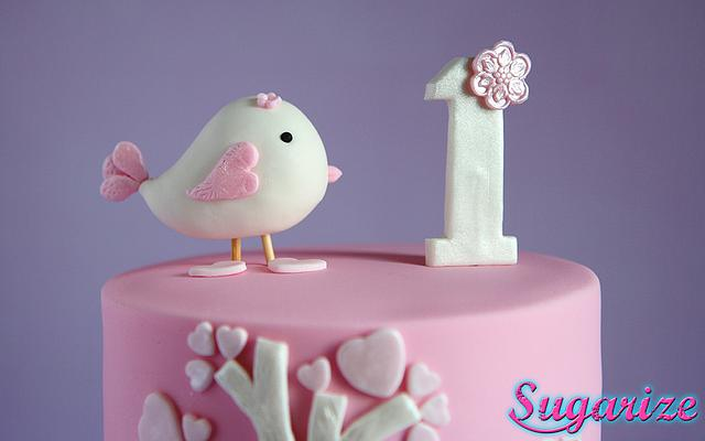 Sweet little bird cake