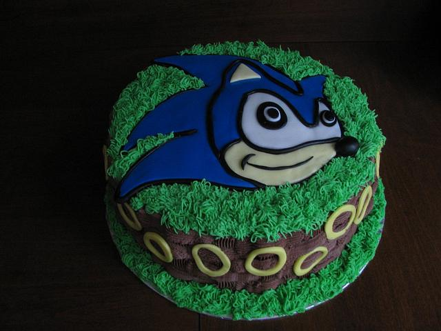 Sonic The Hedgehog Birthday Cake Cake By Sandra Caputo Cakesdecor