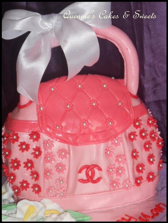 Pink Channel Bag Cake