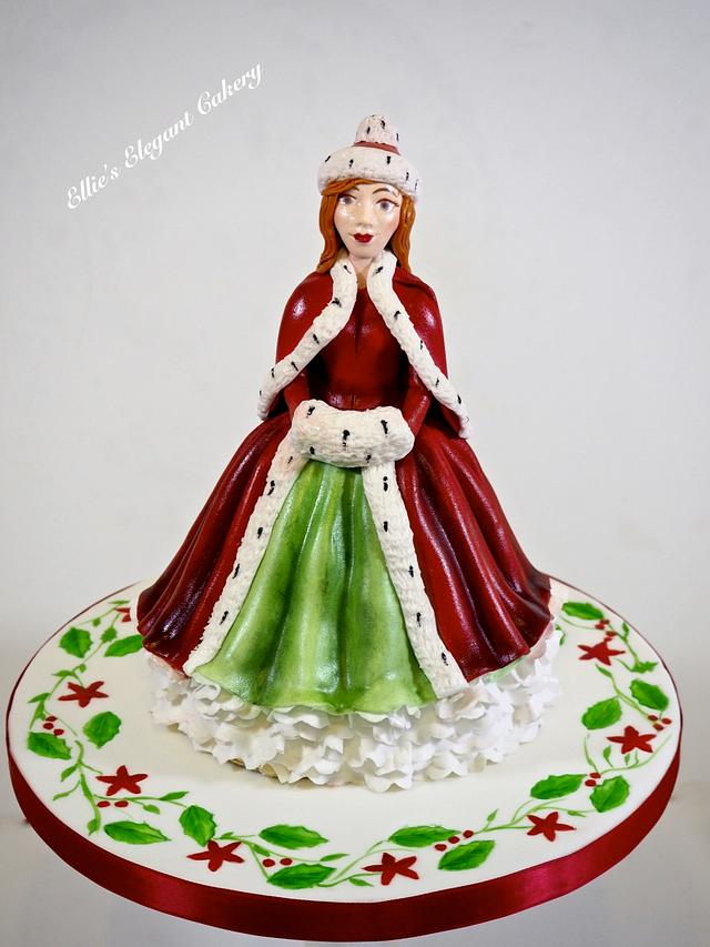 Royal Doulton figurine Christmas cake