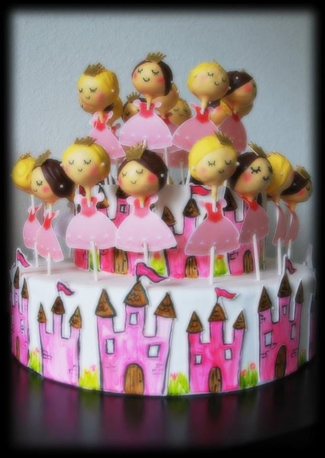 Princess cake pops