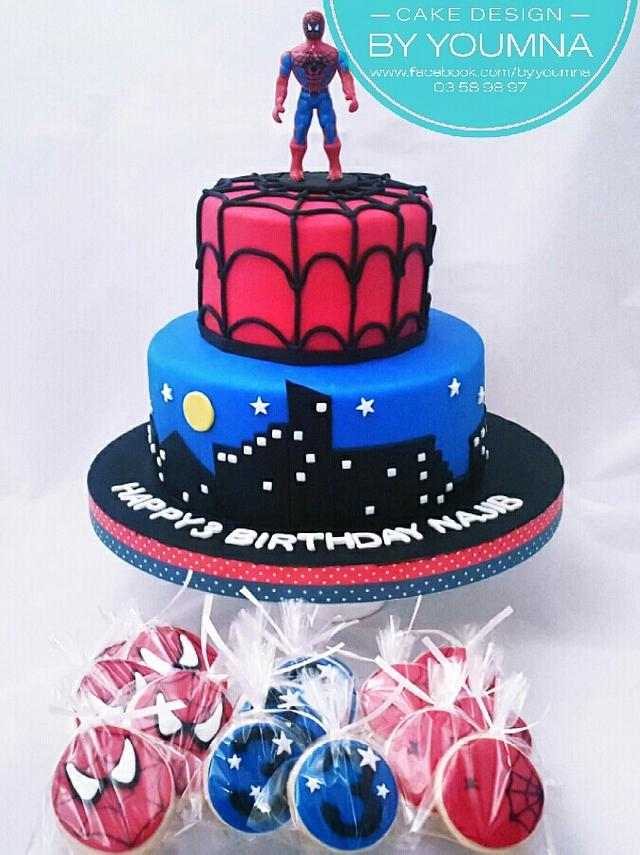 Pleasant Spiderman Cake By Cake Design By Youmna Cakesdecor Funny Birthday Cards Online Elaedamsfinfo