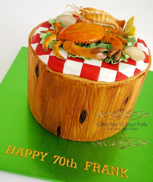 Pleasing Seafood Birthday Cake Cake By Leah Jeffery Cake Me To Cakesdecor Funny Birthday Cards Online Necthendildamsfinfo