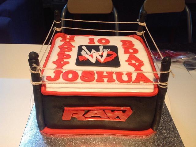 Pleasant Wwe Raw Wrestling Arena Birthday Cake Cake By My Sweet Cakesdecor Funny Birthday Cards Online Inifodamsfinfo
