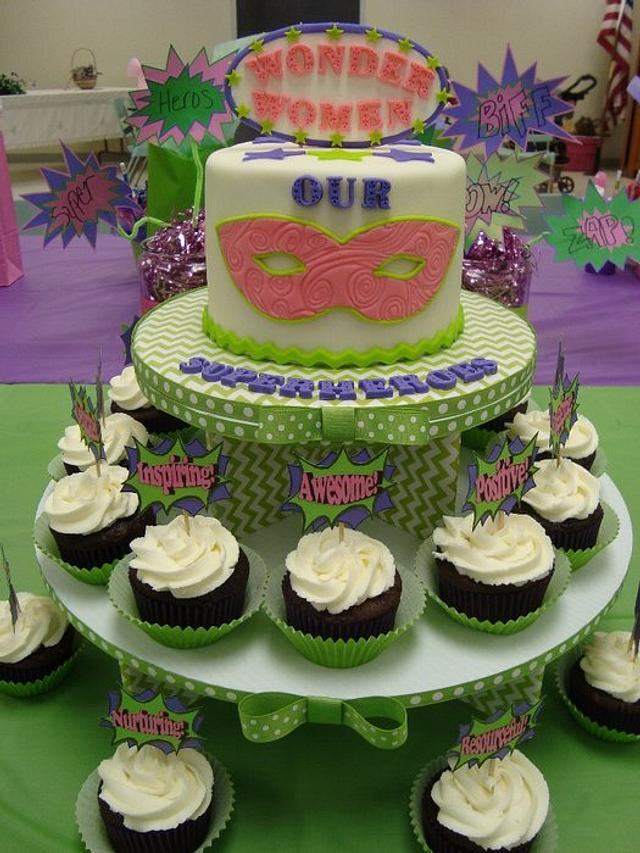 Teacher Appreciation Cake & Cupcakes (Our Superheroes)