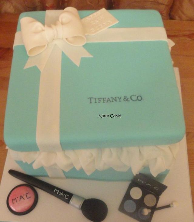 Tiffany Gift Box and MAC Makeup 2