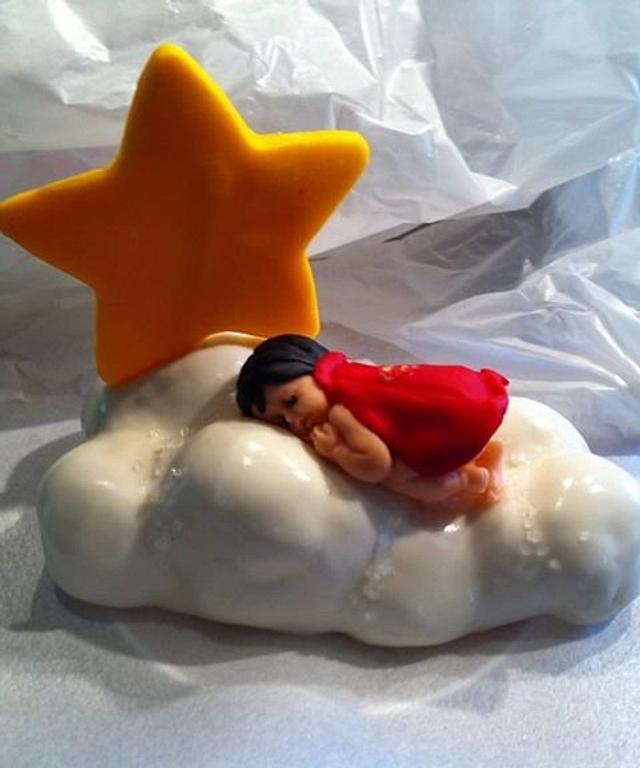 Baby Superhero Cake Topper