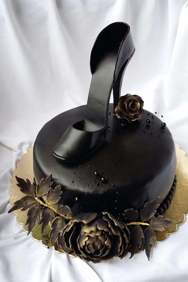Shoes with cake