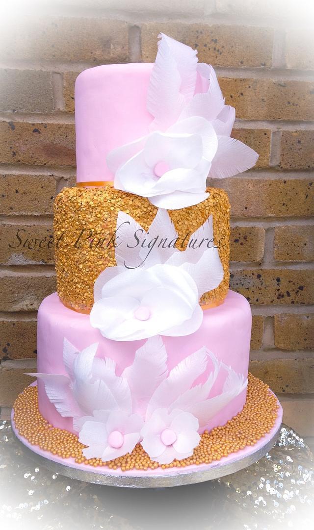 Edible sequins cake