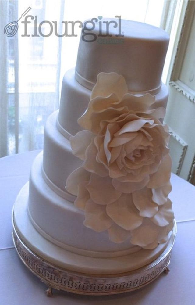 Corsage Wedding Cake
