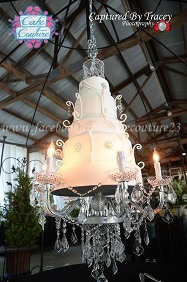 Suspended Chandalier Wedding Cake