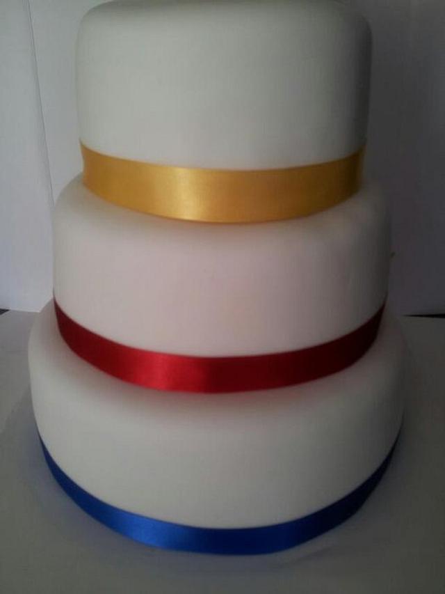 Comic Book Double Sided Wedding Cake