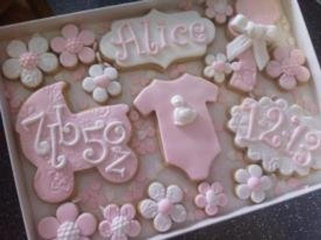 New Baby Girl Cookies