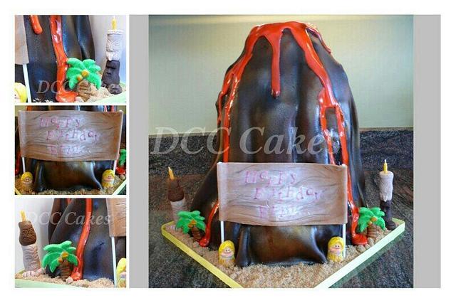 Erupting Volcano Cake
