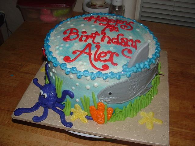Alex's Shark Cake