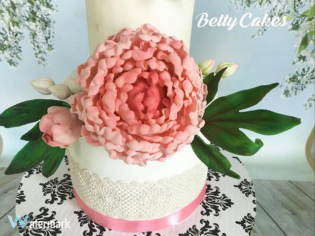 My Sugar flowers wedding cake