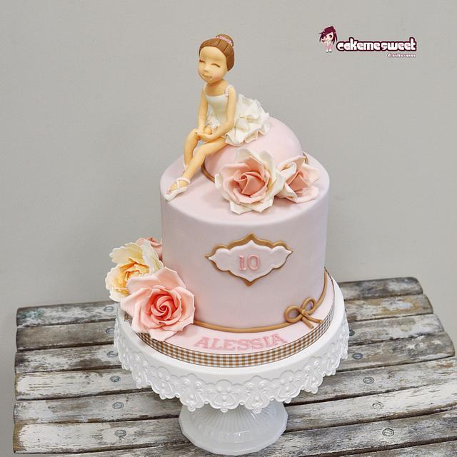Pleasing Ballet Birthday Cake Cake By Naike Lanza Cakesdecor Birthday Cards Printable Opercafe Filternl