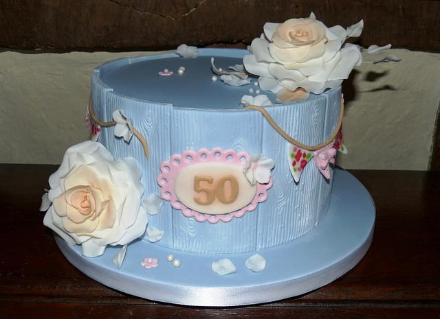 Astounding Vintage 50Th Birthday Cake Cake By Angel Cake Design Cakesdecor Personalised Birthday Cards Bromeletsinfo