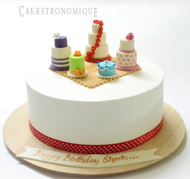 whipped cream Birthday cake for a cake artist