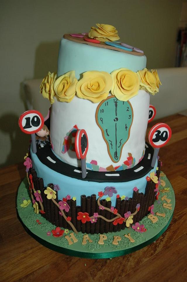 Pleasing Unique Birthday Cake For A Close Friend Cake By Tina Cakesdecor Funny Birthday Cards Online Alyptdamsfinfo