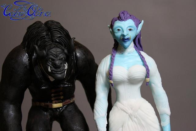 WorldOfWarcraft wedding figurines