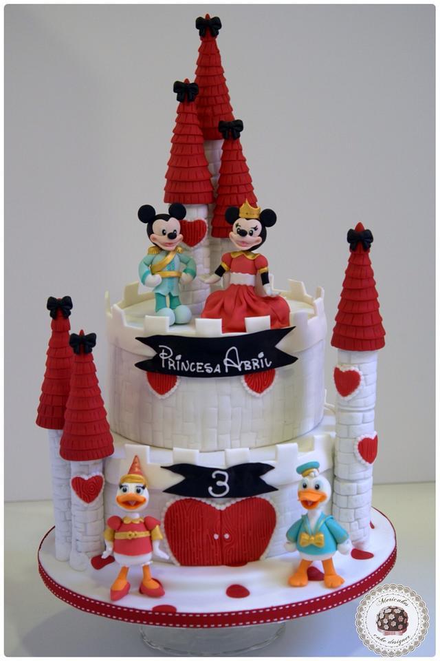 Remarkable Disney Castle Cake Cake By Mericakes Cakesdecor Personalised Birthday Cards Beptaeletsinfo