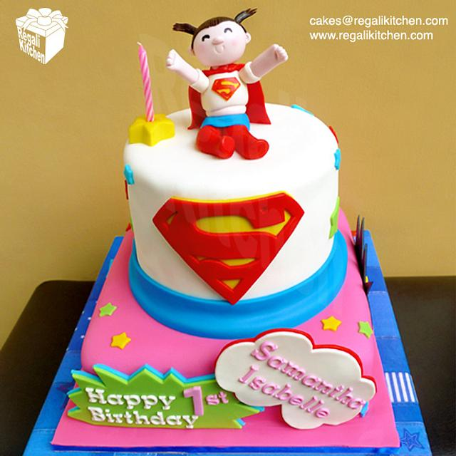 Fabulous Supergirl Cake Cake By Cakes By The Regali Kitchen Cakesdecor Funny Birthday Cards Online Elaedamsfinfo