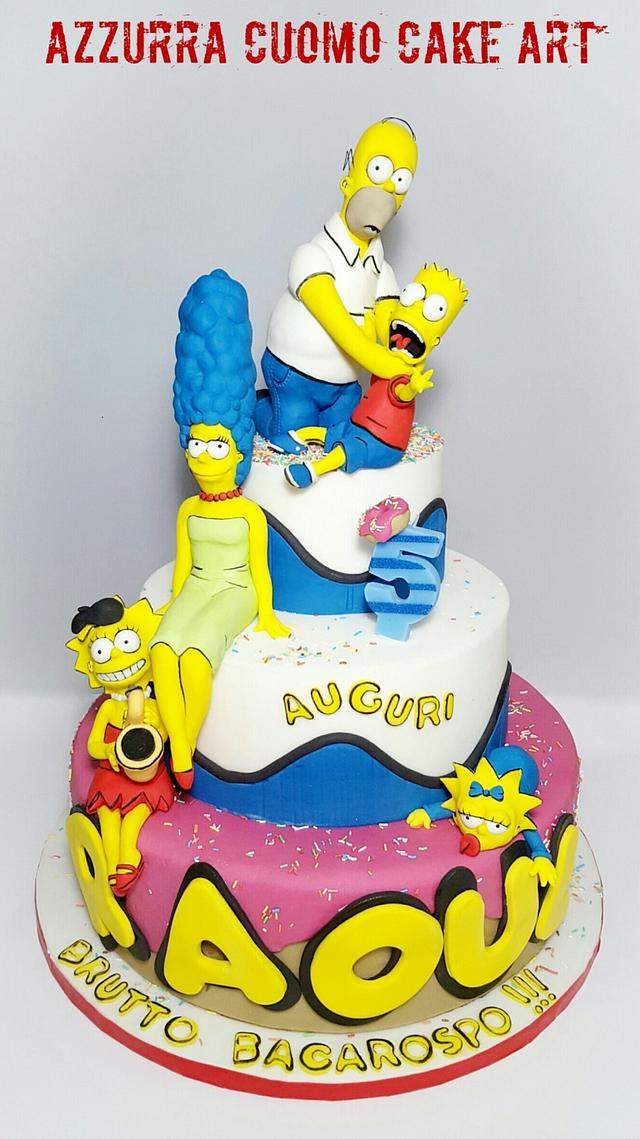 Awe Inspiring Why You Little The Simpsons Cake Cake By Cakesdecor Funny Birthday Cards Online Alyptdamsfinfo