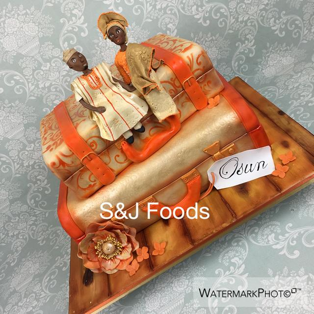 Traditional African Wedding Cake