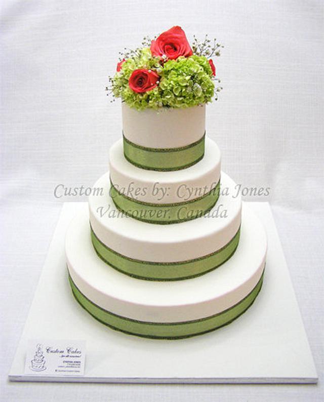 4 tier wedding cake ...