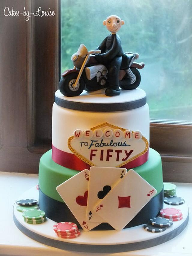 Las Vegas / Biker themed cake