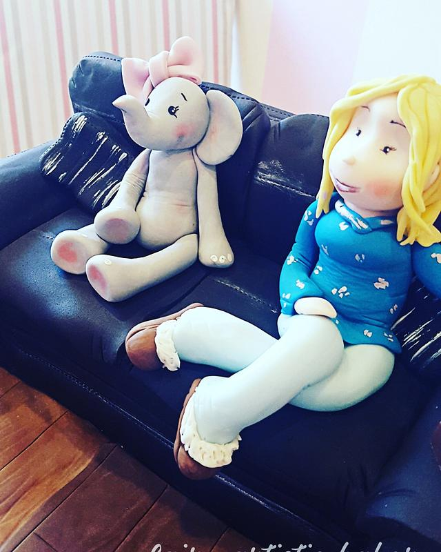 Sitting with ellie