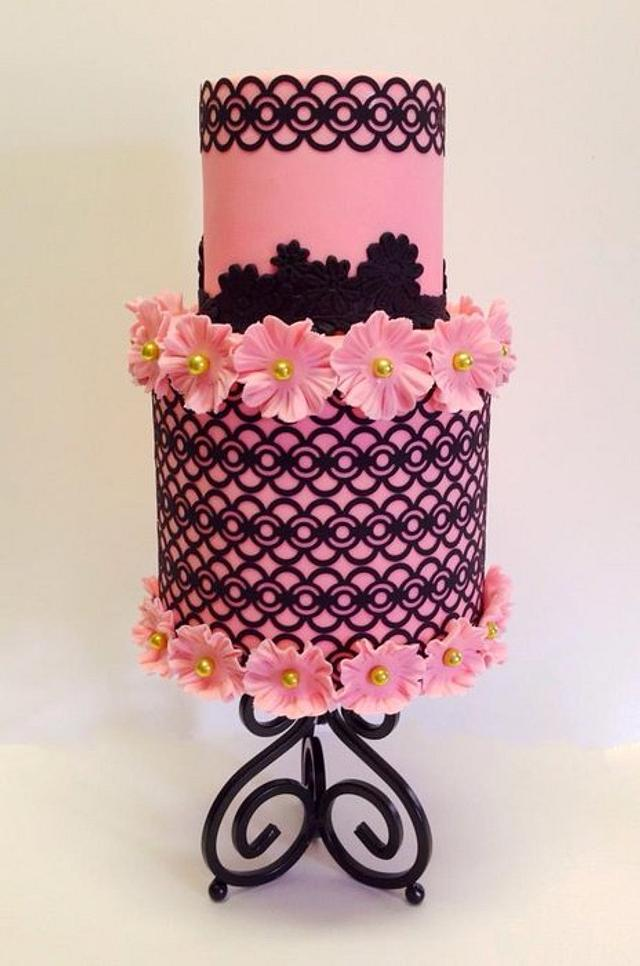 Filigree in Pink and Black