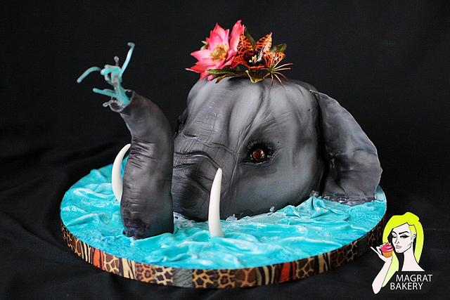 Tropical Elephant Cake