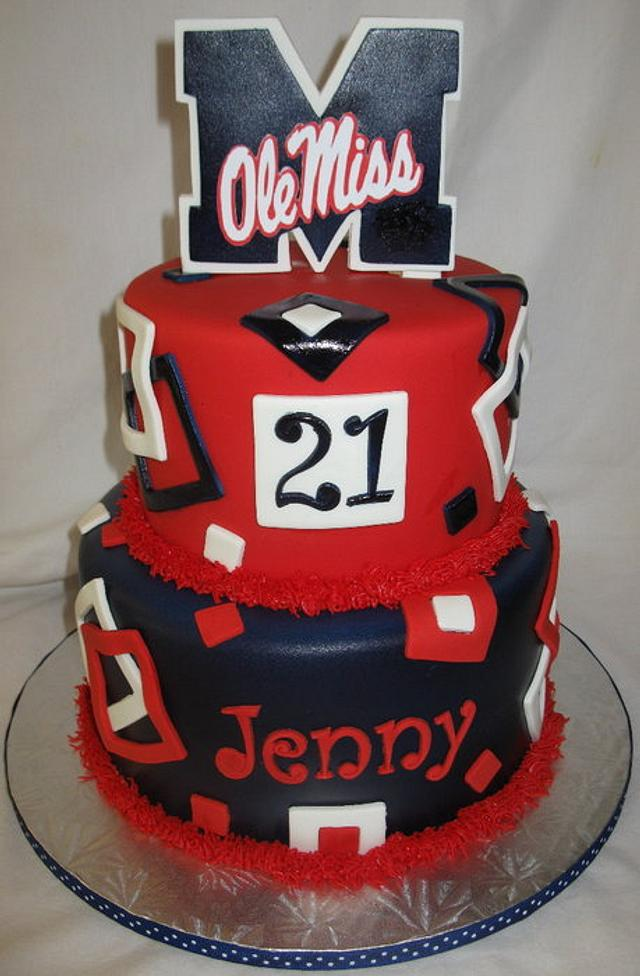 Super Ole Miss Cake By Doobiealexander Cakesdecor Funny Birthday Cards Online Fluifree Goldxyz