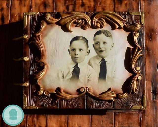 Vintage photo album cake