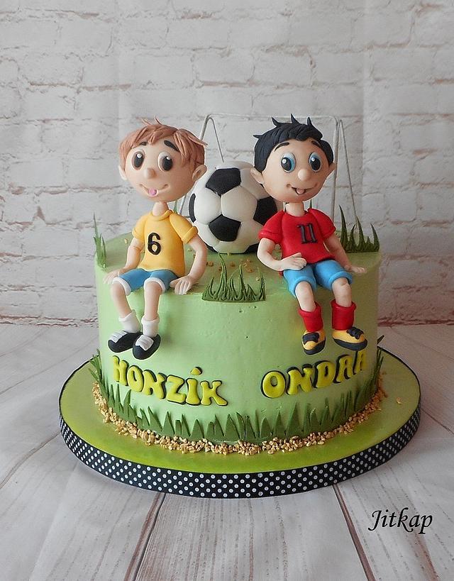 Football cake for boys